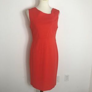 Reiss Fold front orange Sleeveless Pencil Dress